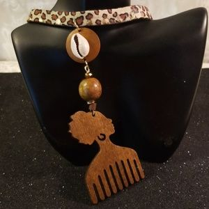 Jewelry - Afro woman pic choker